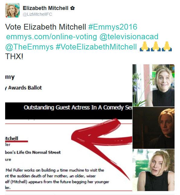 Elizabeth Mitchell Emmys 2016